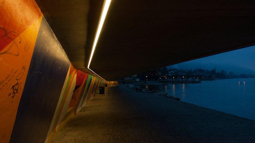 150  Meter  misst  die  durchgehende  LED-Lichtlinie  SHINE  von  BURRI.