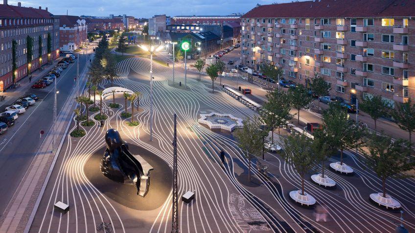 Panorama,  Superkilen  Dänemark