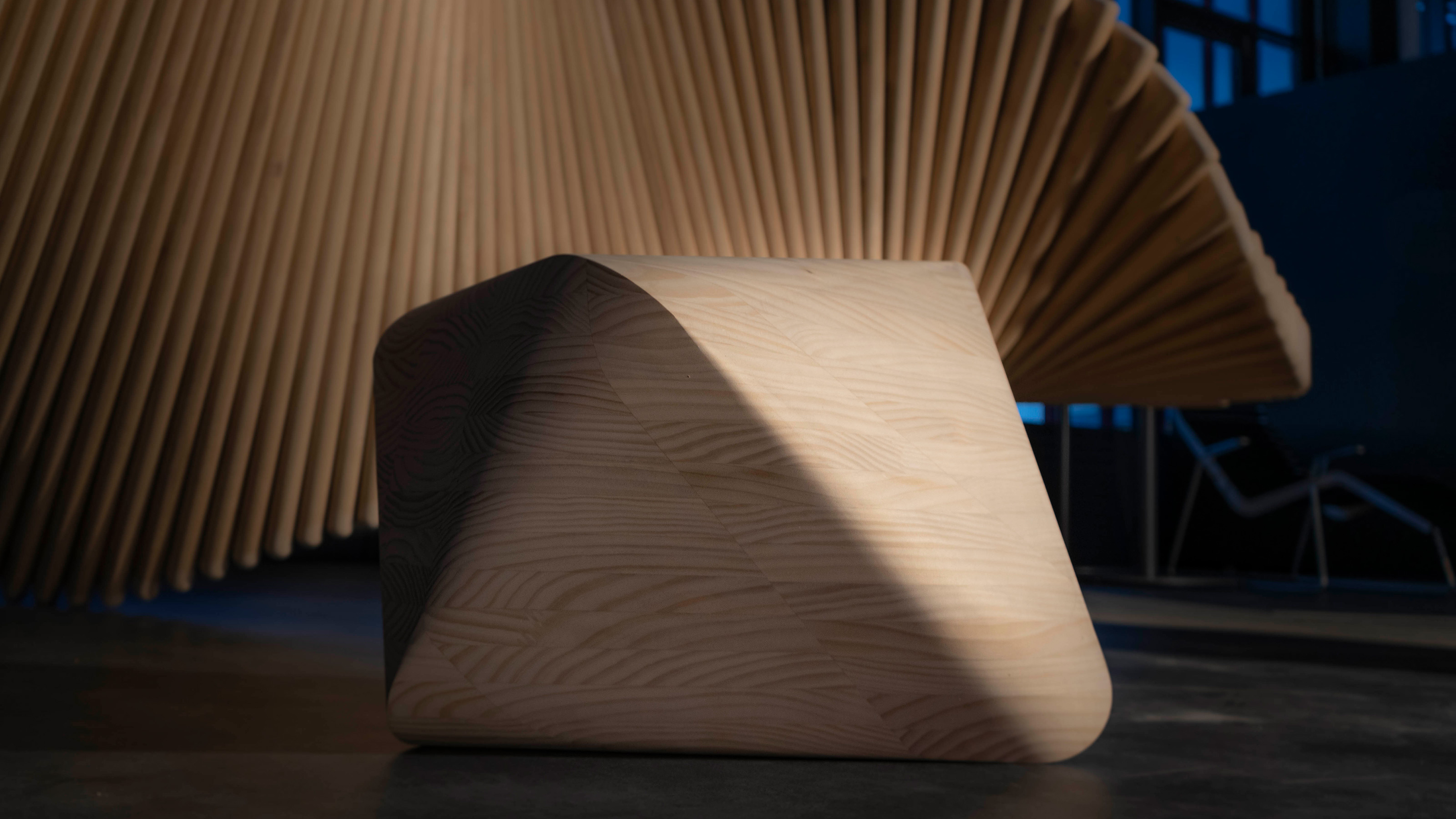 Octaeder aus Accoya-Holz