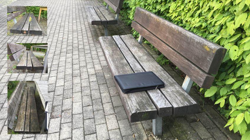 In  der  Wohnsiedlung  Tiergarten  Zürich  wurden  25-jährige  Sitzbänke  aus  Irokoholz  renoviert.