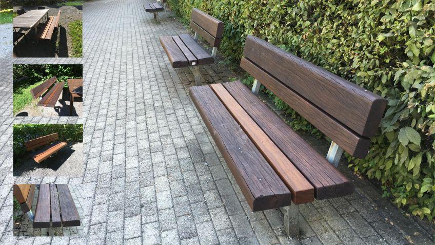 BURRI  beweist  Umweltbewusstsein:  es  wird  jeweils  so  viel  Holzbelattung  wie  möglich  geschliffen,  lackiert  und  wiederverwendet.