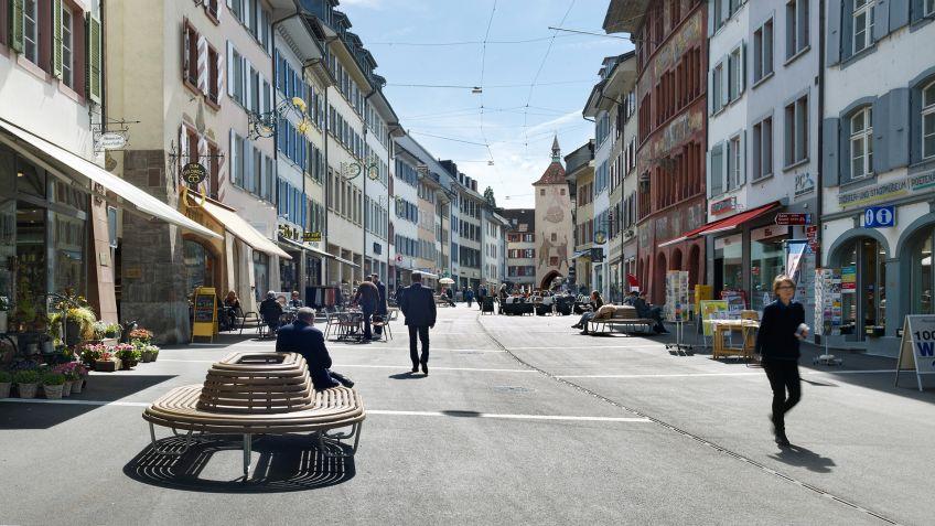 Hauptpreis  Liestal:  Neugestaltung  Rathausstrasse
