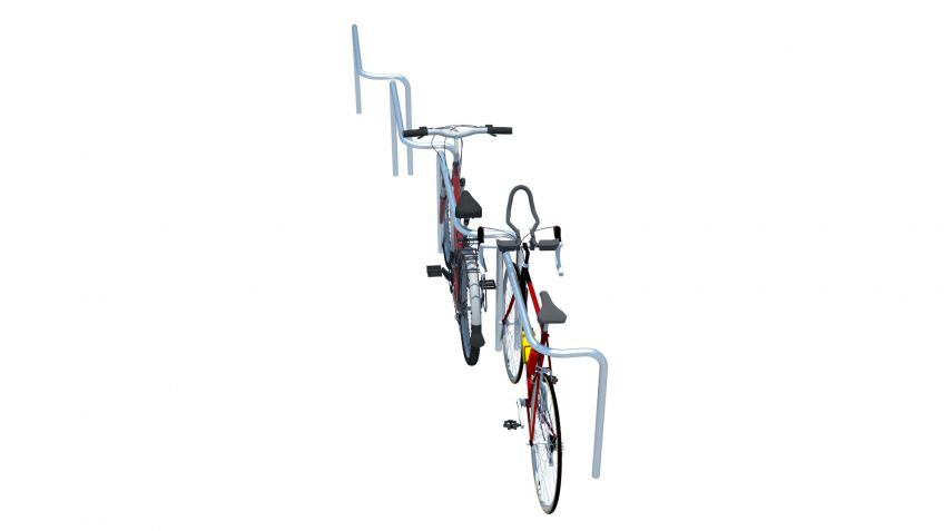 Mit  Cykelog  Spezialkonfigurationen  können  Fahrradstellplätze  an  die  jeweiligen  Platzverhältnisse  angepasst  werden.