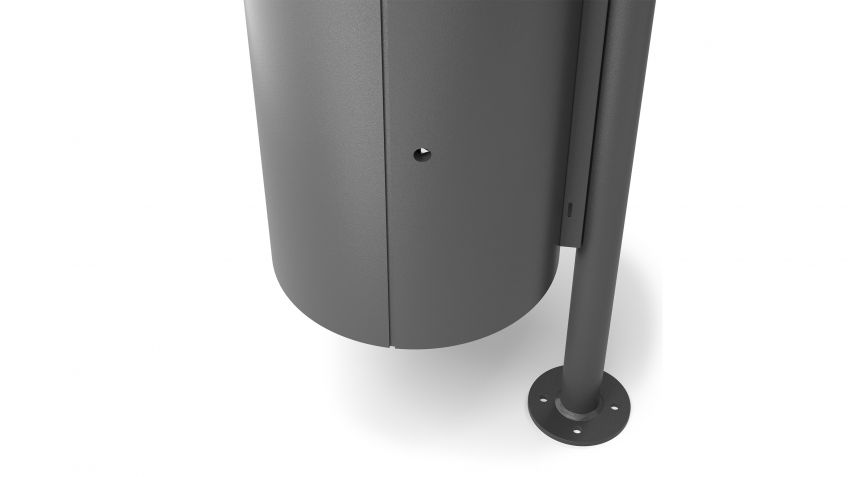 BURRI blu - Abfallbehälter BULI mit Fussplatte