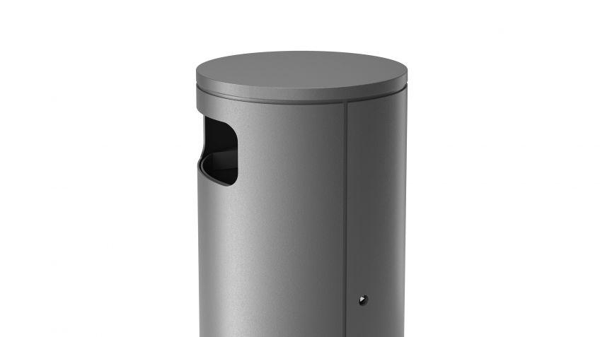 BURRI blu - Abfallbehälter BULI auf Sockel