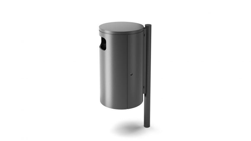 BURRI blu - BULI waste receptacle for setting in concrete