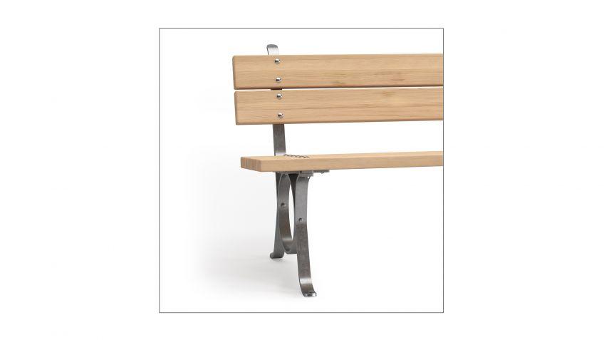 lita mit r ckenlehne sitzbank burri. Black Bedroom Furniture Sets. Home Design Ideas