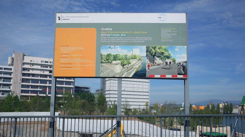 Die  neue  Rheinuferpromenade  in  Basel