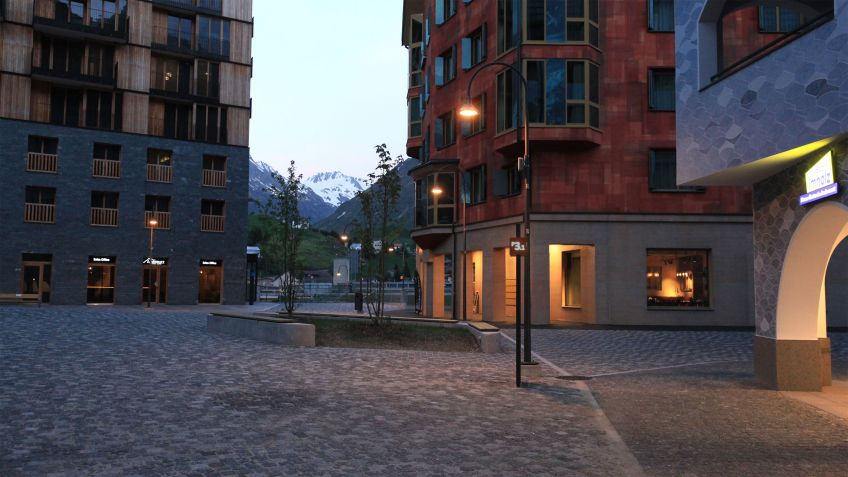 Die ALLEY sorgt für angenehmes Licht im Feriendorf Andermatt Reuss