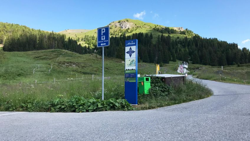 The info steles are sited in various locations in Arosa