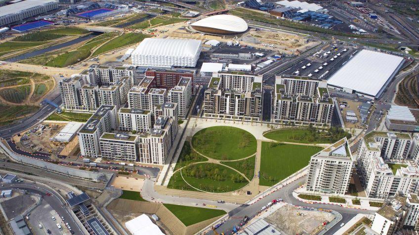 Der  Victory  Park  in  London  aus  der  Vogelperspektive