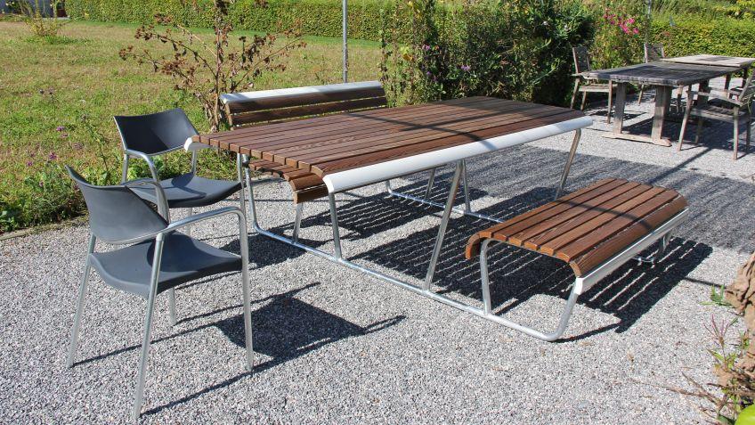 Landi Inklusion Bank-Tisch-Bank-Kombination – bietet Strinseitig Platz für Rollstühle oder Hocker