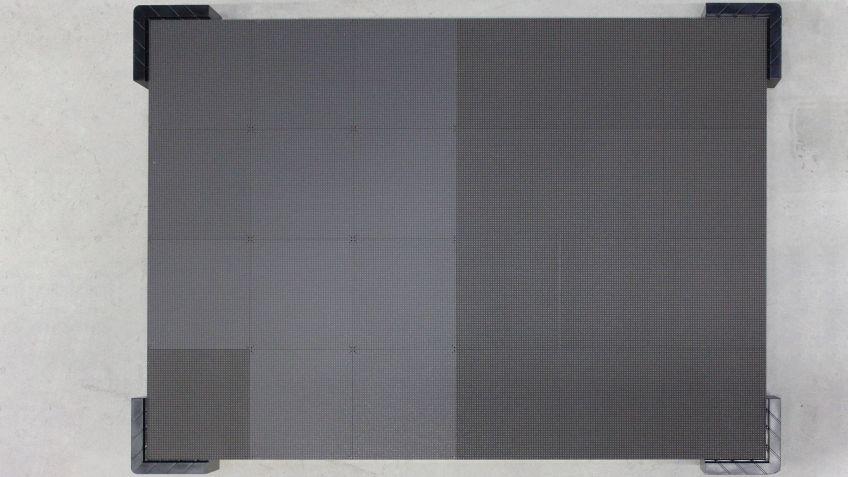 96 solcher Kabinette vervollständigen den LED-Screen