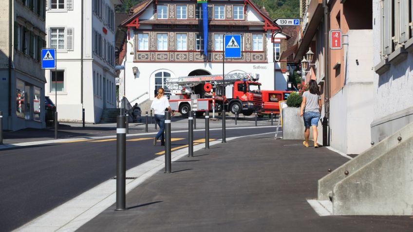 Passen gut ins Bild von Berneck - Uni Millennium Absperrpfosten und Verkehrsschildmasten