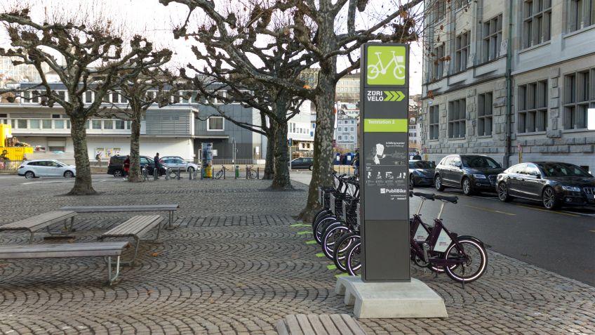 Eine der drei Teststationen in Zürich