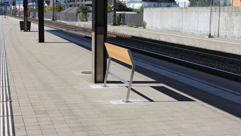 The sloper benches are mounted in Lenzburg