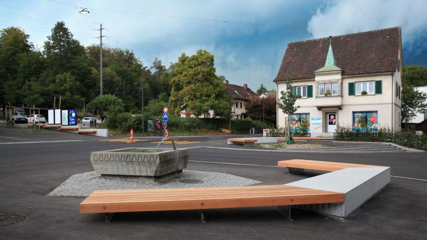 Der Breiteplatz in Winterthur ist mit diversen Public Elements ausgestattet