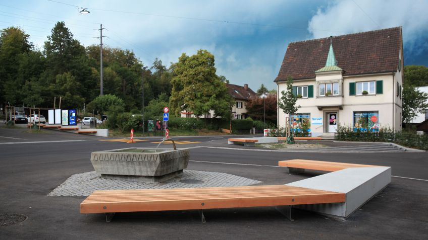 The Breiteplatz in Winterthur is now equipped with a range of Public Elements