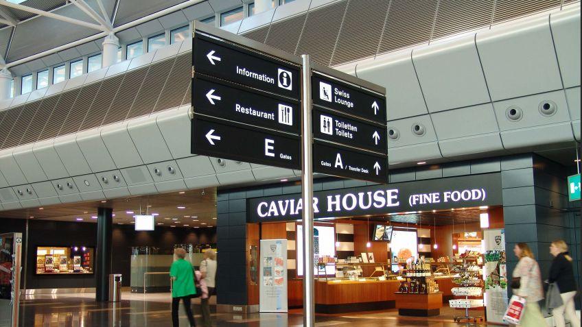 Signaletik  als  Identifikationsinstrument,  Flughafen  Zürich