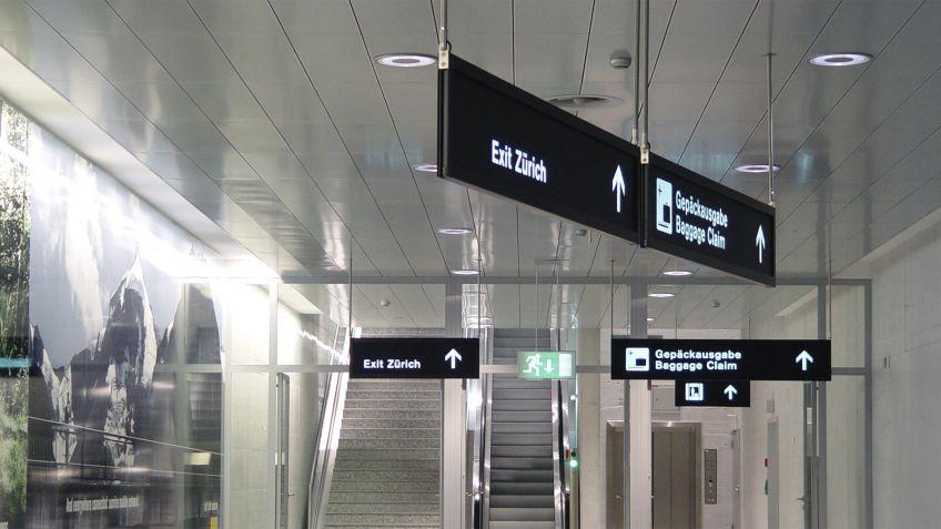 Signaletik,  Flughafen  Zürich