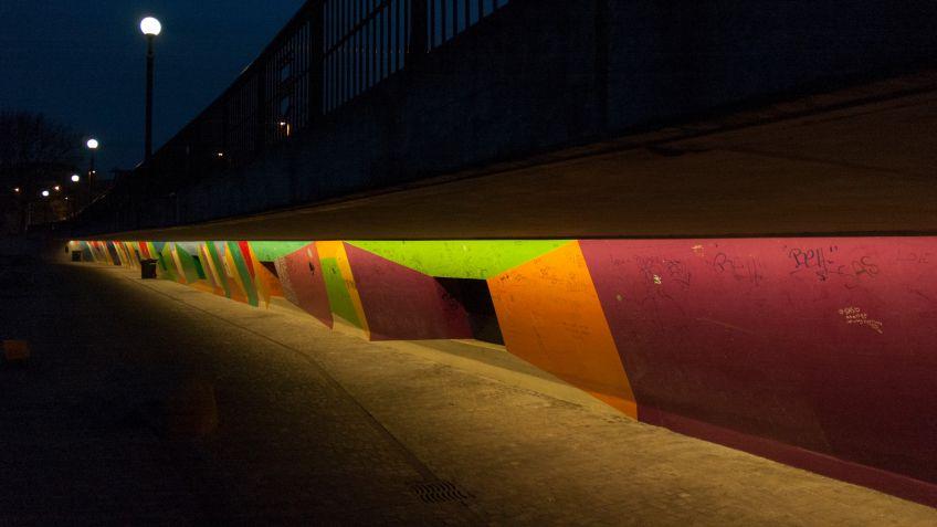 SHINE  LED-Lichttechnologie  in  der  Katastrophenbucht  Zug.