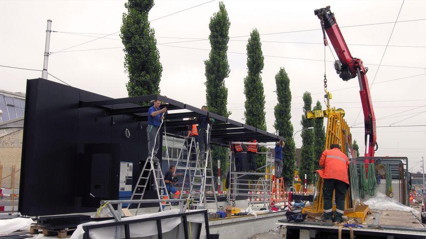 Glattalbahn,  Haltestelleninfrastruktur  Montage