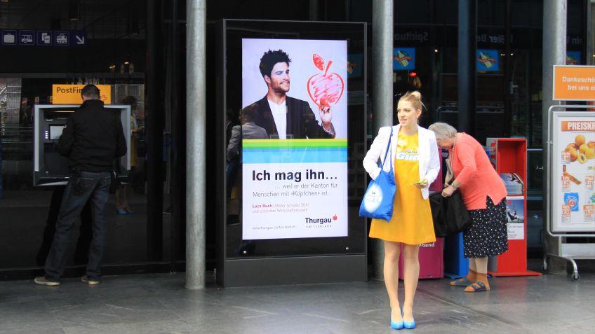 Rollingstar  im  Shopville  des  Hauptbahnhofs  Zürich.