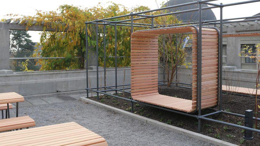 Outdoor Office Spaces lassen auch zu, dass man sich zurückziehen und in Ruhe arbeiten kann.