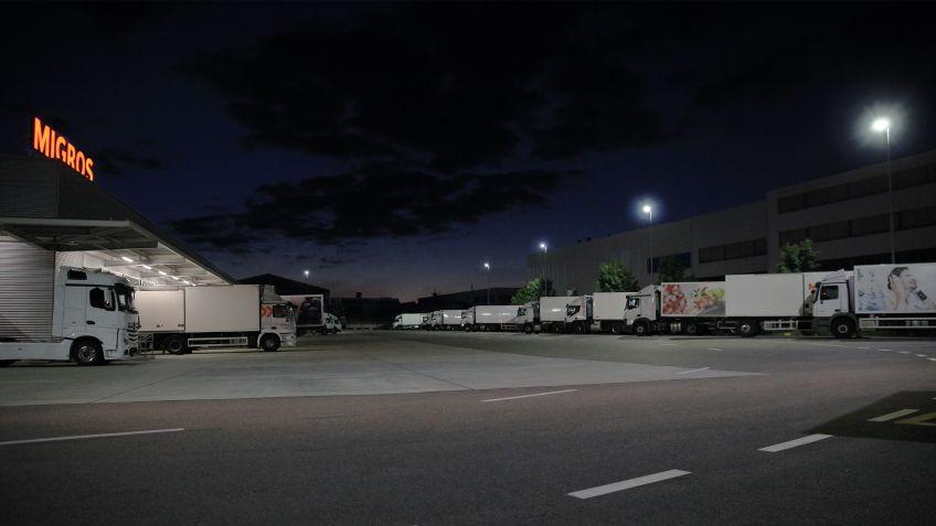 METRO  LED-Leuchten  für  die  wichtigste  Drehscheibe  der  Migros  Ostschweiz,  Gossau