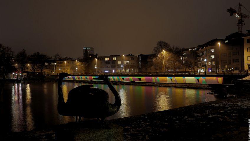 Aufwertung  der  Zuger  Seeuferpromenade  mittels  modernster  LED-Lichttechnologie  von  BURRI.