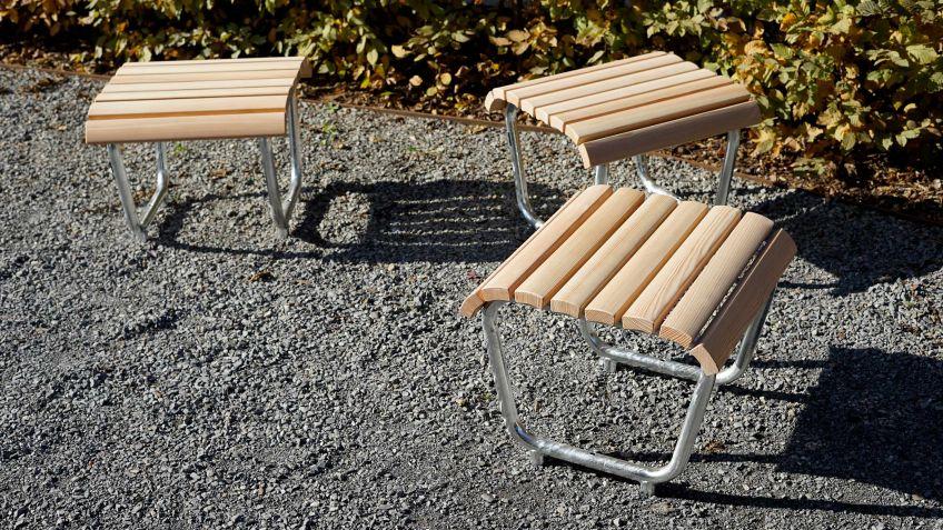 Mit den Landi Hocker und Sessel können gut gesamte Plätze genutzt werden