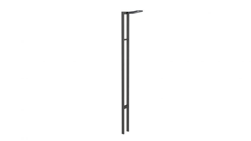 METRO  100  Lichtmast  mit  Lichtpunkthöhe  bis  zu  10  Metern  als  Einzelleuchte.