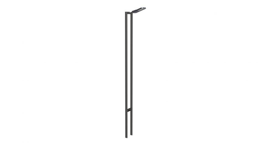 METRO  60  Lichtmast  mit  Lichtpunbkthöhe  bis  zu  6  Metern  als  Einzelleuchte.