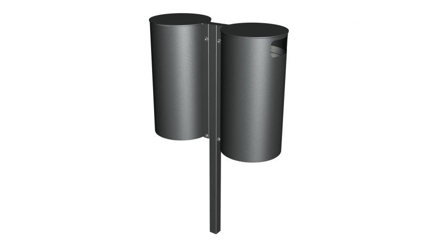 Kombination  aus  zwei  Public  Bins  mit  jeweils  110  Litern  Fassungsvermögen  der  Innenbehälter.