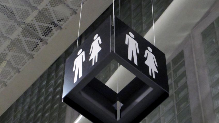 Deckenkuben  markieren  unter  anderem  öffentliche  WC-Anlagen  innerhalb  des  Messe  Gebäudes.