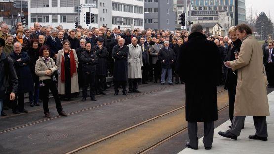 11.  Dezember  2010:  Eröffnungstag  der  Glattalbahn