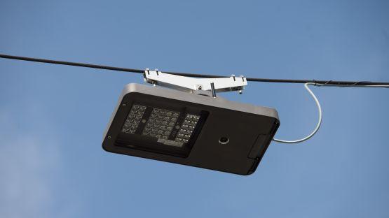 Am  Perron  der  Rigibahn  in  Arth-Goldau  werden  energieeffiziente  METRO  60  LED  Lampen  zur  Beleuchtung  eingesetzt.
