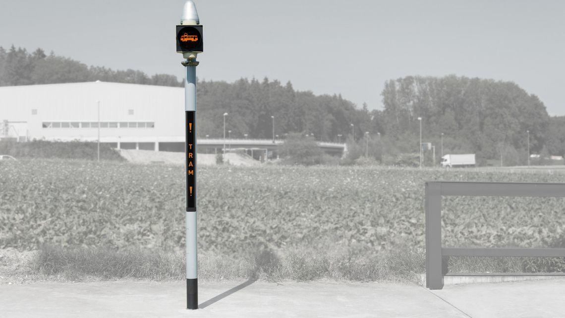 Tramsignal leuchtet nur bei Tramabfahrt