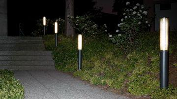 Public  Light  leuchtet  Fusswege  dank  eingebautem  Reflektor  präzise  aus  ohne  zu  blenden.